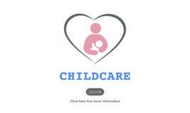 Il bambino di amore di assistenza all'infanzia di cura ciao il concetto Fotografia Stock