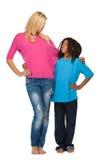 Il bambino di Rasta ama la sua sorella Immagine Stock Libera da Diritti