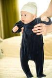 Il bambino fa i primi punti Immagine Stock