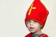Il bambino gioca Sinterklaas olandese Fotografia Stock Libera da Diritti