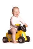 Il bambino guida una motocicletta Fotografia Stock Libera da Diritti