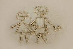 Il bambino ha disegnato Fotografia Stock
