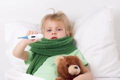 Bambino malato Fotografia Stock