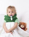 Bambino malato Immagini Stock