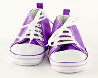 Il bambino mette in mostra le scarpe Fotografia Stock Libera da Diritti