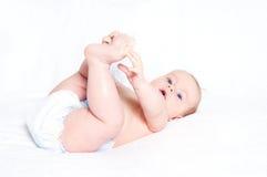 Il bambino in modo divertente Fotografie Stock Libere da Diritti