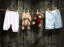 Il bambino nasce  Ragazzo o ragazza? Fotografia Stock