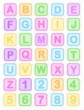 Il bambino ostruisce l'alfabeto Fotografia Stock Libera da Diritti