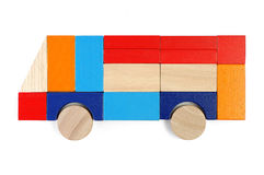 Il bambino ostruisce la figura - bus Fotografia Stock