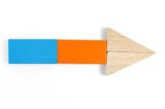 Il bambino ostruisce la figura - freccia Immagini Stock