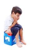 Il bambino shiting Fotografie Stock