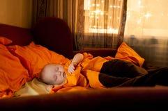 Il bambino sta dormendo Fotografia Stock Libera da Diritti