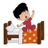 Il bambino sveglia di mattina Immagini Stock