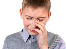 Il bambino triste piange Fotografie Stock Libere da Diritti