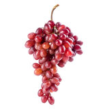 Il banche dell'uva rossa isolato su bianco fotografia stock