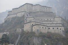 Il bardo forte ha fortificato il complesso nella valle d'Aosta in bardo, Italia Fotografie Stock Libere da Diritti
