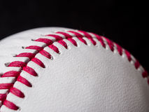 Il baseball merletta il primo piano Fotografia Stock