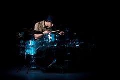 Il batterista Immagine Stock