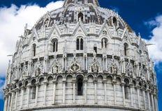 Il battistero di San Giovanni, Pisa (dettaglio) Fotografia Stock