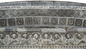 Il battistero di San Giovanni, Pisa (dettaglio) Fotografia Stock Libera da Diritti