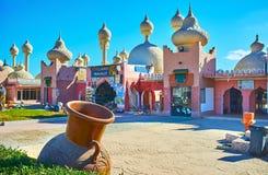 Il bazar orientale di Sharm el-Sheikh, Egitto fotografie stock libere da diritti