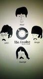 Il Beatles come carta da parati fotografie stock