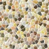Il beige ha colorato il fondo senza cuciture di mosaico del pavimento di struttura pietrosa di plastica irregolare di marmo del m Immagini Stock