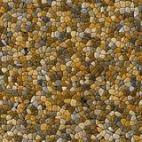 Il beige naturale ha colorato il fondo senza cuciture di mosaico di struttura pietrosa di plastica irregolare di marmo astratta d Fotografia Stock