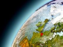 Il Belgio dall'orbita di Earth di modello Fotografie Stock