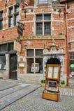 Il Belgio, distretto pittoresco di Sablon di Bruxelles Fotografia Stock Libera da Diritti