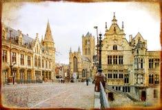 Il Belgio gotico Immagine Stock