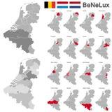 Il Belgio, Paesi Bassi, Lussemburgo Fotografie Stock