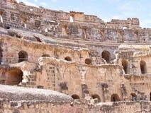 Il bello anfiteatro romano in EL Djem, Tunisia, Nord Africa fotografia stock libera da diritti