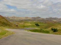 Il bello azionamento attraverso il parco nazionale dei calanchi fotografia stock
