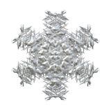 Il bello bianco e 3D rendono il fiocco di neve dell'inverno royalty illustrazione gratis