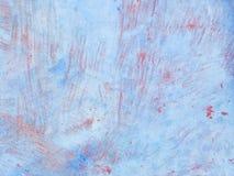 Il bello blu di lerciume con i graffi rossastri struttura - la vecchia superficie ha dipinto molte volte con un peschereccio, la  fotografia stock libera da diritti