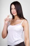 Il bello brunette Fotografia Stock