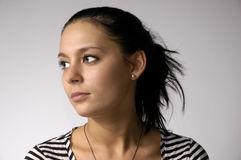 Il bello brunette Fotografia Stock Libera da Diritti