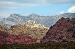 Il bello canyon rosso della roccia nel Nevada Fotografia Stock