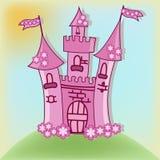Il bello castello rosa Immagini Stock