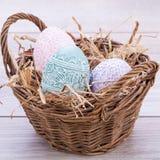 Il bello colorfull della decorazione dell'uovo di Pasqua eggs il pastello stagionale Immagini Stock Libere da Diritti