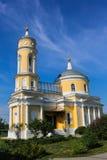 Il bello complesso ristabilito della chiesa in Kolomna Immagine Stock