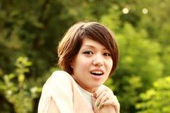 Il bello Coreano mostra la sorpresa della gioia Immagini Stock