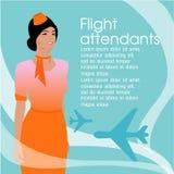 Il bello del sorvegliante di volo Illustrazione, progettazione di vettore Immagini Stock Libere da Diritti