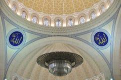 Il bello disegno del mosaico della moschea di Wilayah Immagini Stock Libere da Diritti