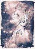 Il bello disegno di elven la creatura leggiadramente con le campane dello stagnaio Immagine Stock
