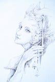 Il bello disegno di elven la creatura leggiadramente con le campane dello stagnaio, lunedì Immagine Stock Libera da Diritti
