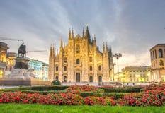 Il bello duomo a Milano, Italia fotografie stock