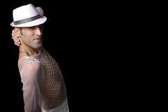 Il bello e danzatore molto alla moda sta proponendo Immagine Stock