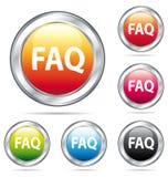Il bello FAQ abbottona l'accumulazione. Fotografia Stock